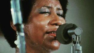 """Aretha Franklin en 1972, dans le documentaire """"Amazing Grace"""" de Sydney Pollack. (AMAZING GRACE MOVIE LLC)"""