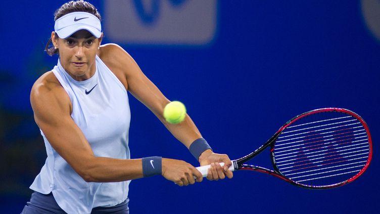 Caroline Garcia lors de son titre WTA à Wuhan. (TANG MAIKA / IMAGINECHINA)