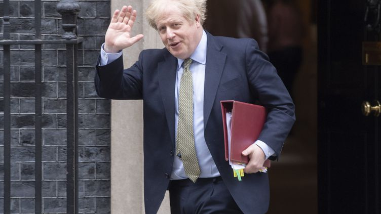 Le Premier ministre britannique Boris Johnson, le 18 mars 2020, à Londres. (RAY TANG / ANADOLU AGENCY)
