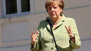 Angela Merkel au palais Meseberg à Berlin (Allemagne), le4 Juin 2015 (ADAM BERRY / AFP)