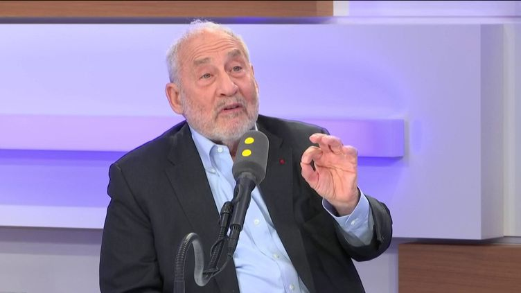 L'économiste Joseph Stiglitz, invité éco de franceinfo mardi 24 septembre. (FRANCEINFO / RADIO FRANCE)
