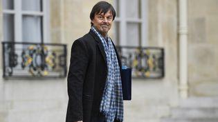 Le ministre de la Transition écologique et solidaire, Nicolas Hulot, à l'Elysée, le 27 novembre 2017. (BERTRAND GUAY / AFP)