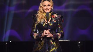 Madonna lors de la cérémonie des Billboard Women à New York, le 9 décembre 2016. (NICHOLAS HUNT / GETTY IMAGES NORTH AMERICA / AFP)