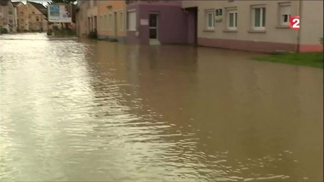 Intempéries : des pluies torrentielles ont surpris les habitants dans l'est de la France