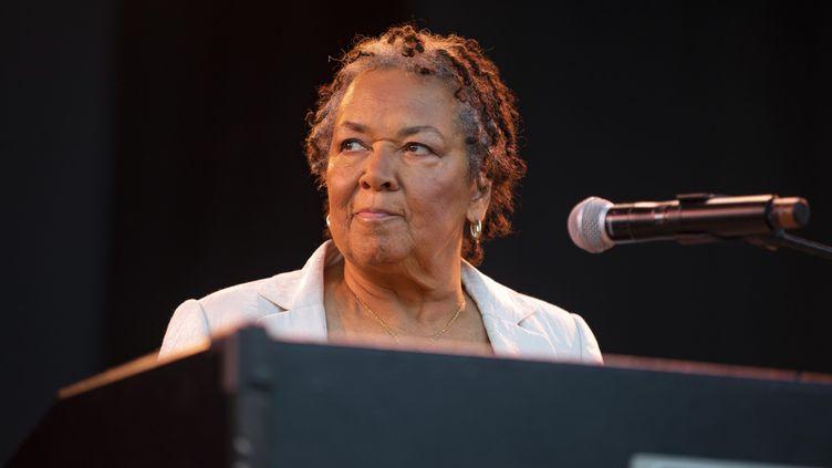 L'organiste Rhoda Scott le 20 juillet 2018 au Nice Jazz Festival (ROLAND MACRI / MAXPPP)