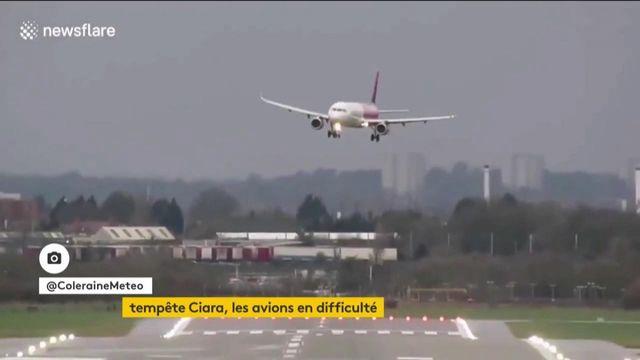 Tempête Ciara : des avions en difficulté