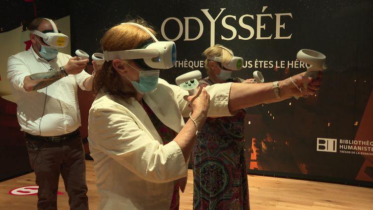 Odyssée, l'exposition qui plonge le public dans une visite virtuelle des trésors de la Bibliohtéque de Sélestat (France 3)