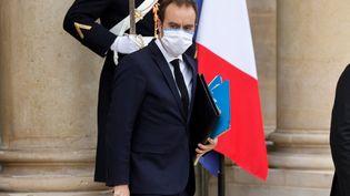 Le ministre des Outre-mer, Sébastien Lecornu, à l'Elysée le 20 janvier 2021. (LUDOVIC MARIN / AFP)