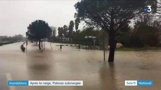 Des inondations sont à craindre dans l'Hérault. (FRANCE 3)