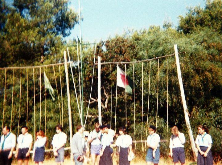 Le groupe de scouts Saint-LucàSainte-Foy-lès-Lyon (Rhône), dans les années 1980. (ASSOCIATION LA PAROLE LIBEREE)