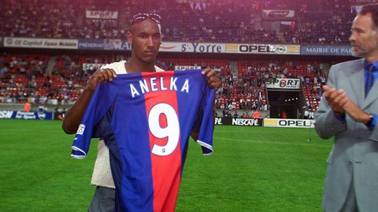 Nicolas Anelka lors de son retour au PSG à l'été 2001