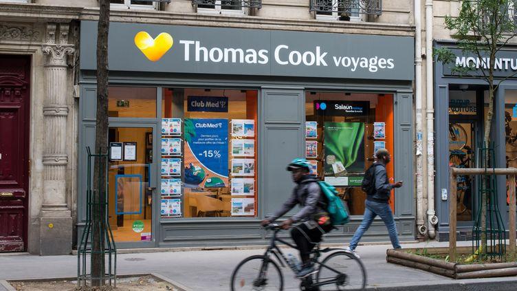 Une agence du voyagiste Thomas Cook, à Paris, le 28 septembre 2019. (RICCARDO MILANI / HANS LUCAS / AFP)
