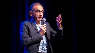 Eric Zemmour au Palais des Congrès de Perpignan (Pyrénées-Orientales), le 23 septembre 2019. (ARNAUD LE VU / HANS LUCAS / AFP)