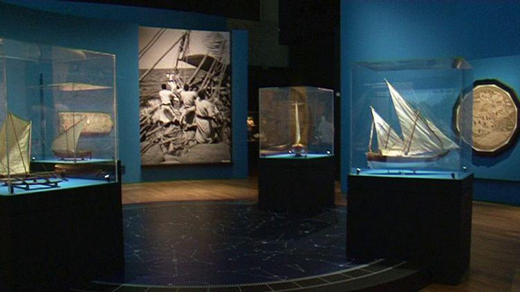 Scénographie au Mucem à Marseille pour l'Exposition Aventuriers des Mers  (France 3 / Culturebox / capture d'écran)