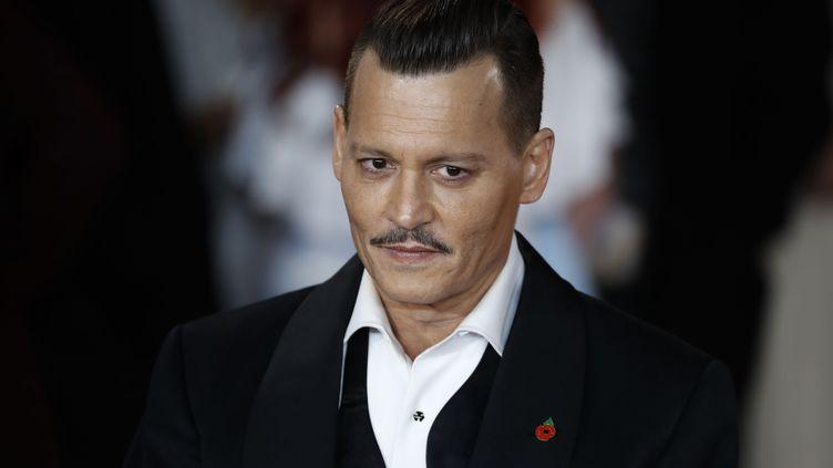 L'acteur Johnny Depp lors d'une avant-première à Londres, le 2 novembre 2017. (TOLGA AKMEN / AFP)