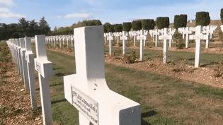 Cimetière de Poilus à Verdun (CAPTURE ECRAN FRANCE 2)