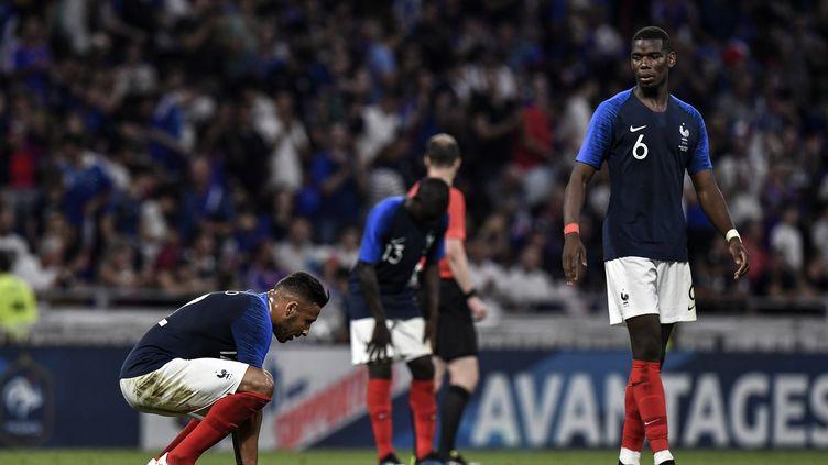 L'équipe de France termine sa préparation par un match nul face aux Etats-Unis (JEFF PACHOUD / AFP)