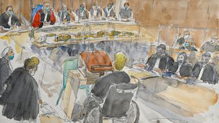 Lasalle d'audience au premier jour du procès de Jonathann Daval devant la cour d'assises de la Haute-Saône, à Vesoul, le 16 novembre 2020. (BENOIT PEYRUCQ / AFP)