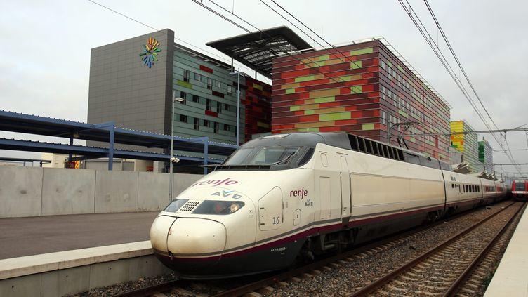 Un TGV espagnol à Perpignan (PHILIPPE ROUAH / MAXPPP)