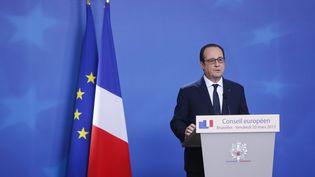 François Hollande lors du Conseil européen à Bruxelles (Belgique), le 20 mars 2015. (  MAXPPP)
