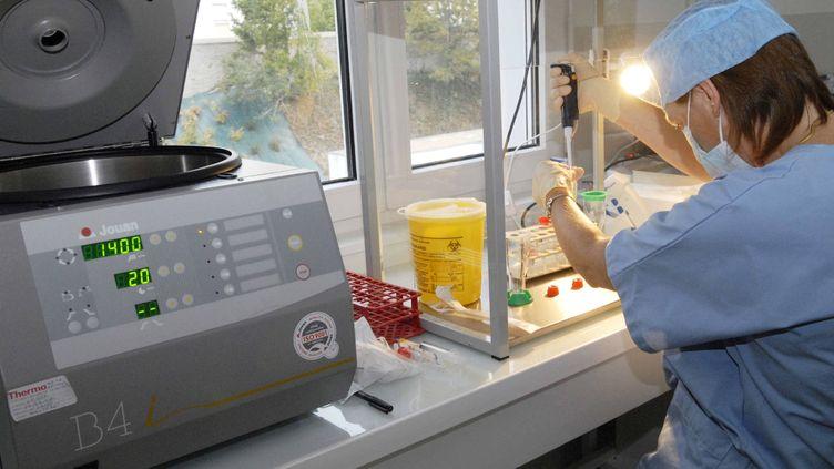 Le pôle fécondation in vitro à l'hôpital mère-enfant de Lorient (Morbihan). (MAXPPP)