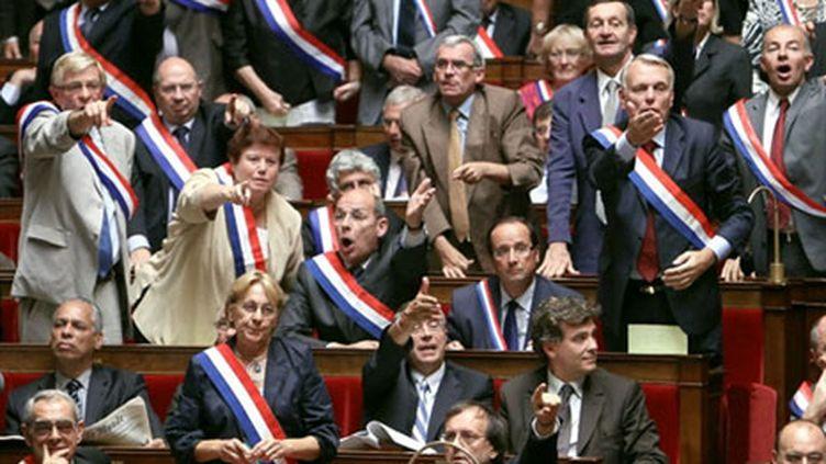 Les députés socialistes à l¿Assemblée nationale, le 15 septembre 2010 (AFP - Pierre Verdy)