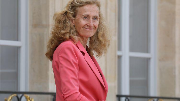 La ministre de la Justice Nicole Belloubet à l'Elysée, à Paris, le 5 septembre 2018. (LUDOVIC MARIN / AFP)