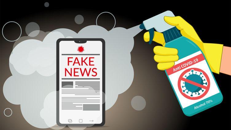 Illustration de la propagation des fake news, notamment sur le Covid-19. (VECTORIOS2016 / DIGITAL VISION VECTORS / GETTY IMAGES)