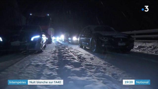 Intempéries : 2 000 automobilistes bloqués dans la neige sur l'A40