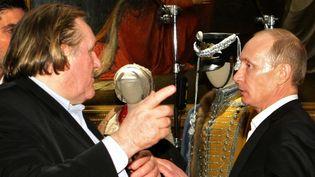 Gérard Depardieu et Vladimir Poutine en 2010 à Saint Petersbourg  (RIA-NOVOSTI)