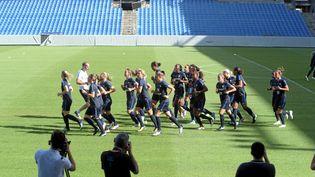 Les Bleues à l'entraînement le 6 juillet à Montpellier. (MAX BERULLIER / MAXPPP)