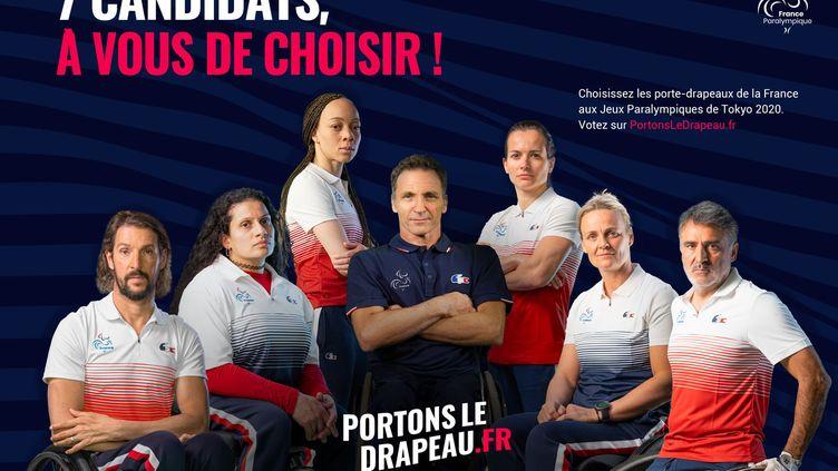 Les 7 candidats au porte-drapeau de la France pour les Jeux Paralympiques de Tokyo. (CPSF)