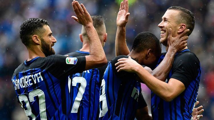 L'Inter Milan tout sourire (MIGUEL MEDINA / AFP)