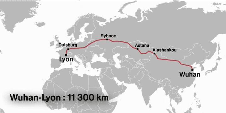 21 avril 2016 : «une nouvelle route ferroviaire s'ouvre vers la Chine». (France 3 Rhône-Alpes)