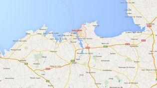 Jusqu'à 800 000 foyers ont été privés d'électricité en Bretagne et dans les Pays de la Loire. ( GOOGLE MAPS)