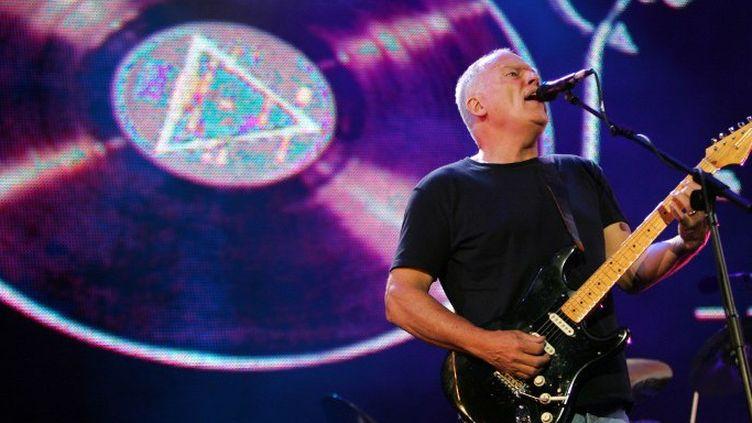 David Gilmour lors d'un concert pour l'Afrique en 2005 à Londres  (JOHN D MCHUGH / AFP)
