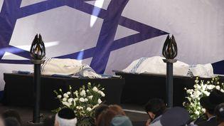 Les quatre victimes de Amely Coubaly sont enterrés à Jérusalem, le 13 janvier 2014. (JACK GUEZ / AFP)