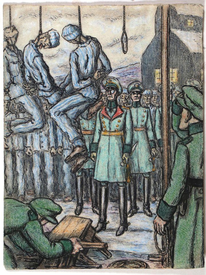 """""""Spectacle de pendus""""  (Musée basque et de l'histoire de Bayonne)"""