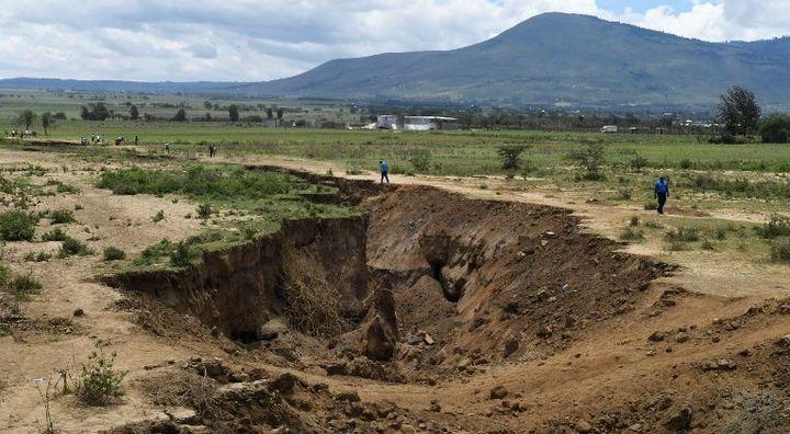 Paysage kenyan près du rift, région du Nakuru, où était théoriquement prévue la possibilité d'installer des colons juifs au début du XXe siècle. (SIMON MAINA / AFP)