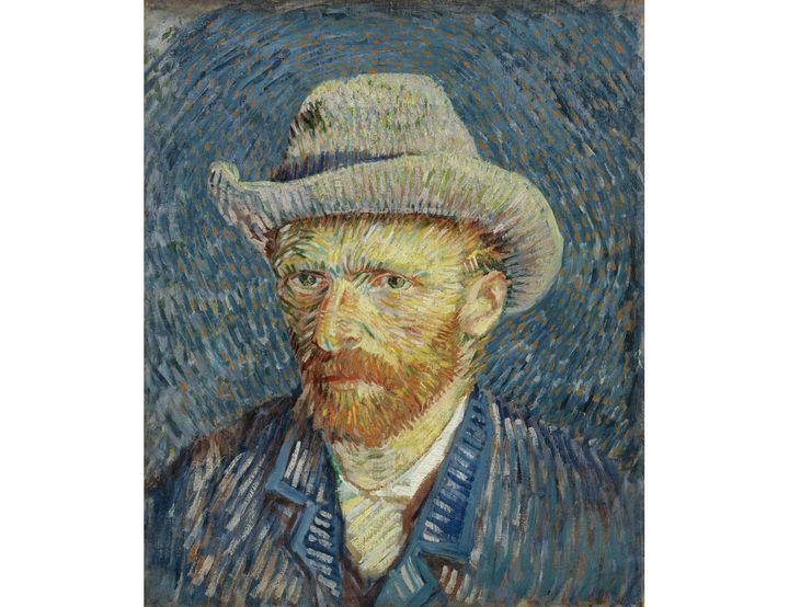 """Vincent van Gogh, """"Autoportrait au chapeau de feutre gris"""", septembre-octobre 1887, Paris (Van Gogh Museum, Amsterdam (Vincent Van Gogh Foundation))"""