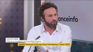 Laurent Labbé, PDG co-fondateur de ChooseMyCompany, invité éco de franceinfo lundi 1er mars 2021. (FRANCEINFO)