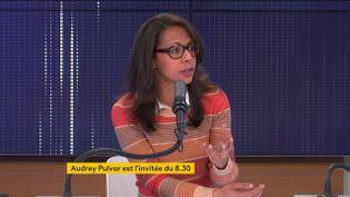 Audrey Pulvar, candidate soutenue par le Parti socialiste aux élections régionales en Île-de-France, était l'invitée de franceinfo samedi 22 mai 2021. (FRANCEINFO / RADIO FRANCE)