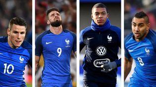 Qui de Kevin Gameiro, Olivier Giroud, Kylian Mbappé ou Dimitri Payet sera aligné ce soir aux côtés d'Antoine Griezmann ? (AFP)