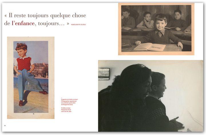 """Pages intérieures"""" Ah Duras"""" / Photos de Marguerite Duras enfant et avec son fils Jean  (Collection particulière de Marguerite Duras / Thierry Magnier)"""