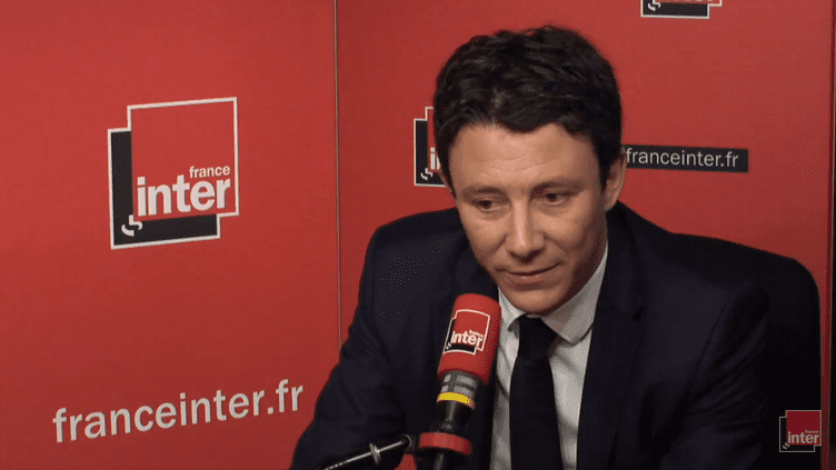 Le porte-parole du gouvernement Benjamin Griveaux, le 7 juin 2018. (RADIO FRANCE / FRANCE INTER)