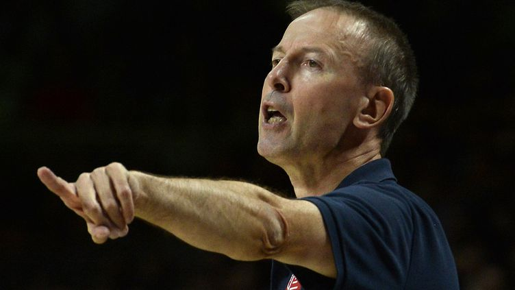 Vincent Collet a présenté ce jeudi l'équipe de France qui préparera l'Eurobasket en septembre prochain (GERARD JULIEN / AFP)