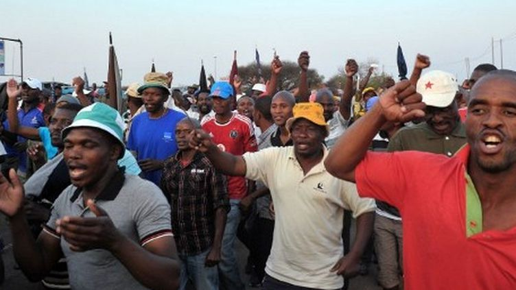Les mineurs de Marikana ont obtenu une augmentation de 22 % (AFP)