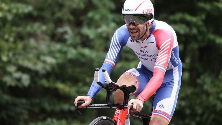 Thibaut Pinot sur le Tour de France, le 19 septembre 2020. (KENZO TRIBOUILLARD / AFP)