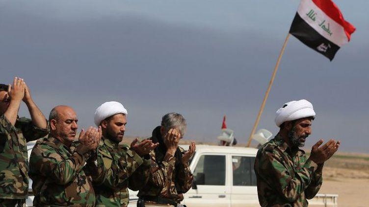 Combattants chiites irakiens sur le front de Tikrit. (Ahmad al-Rubaye/AFP)