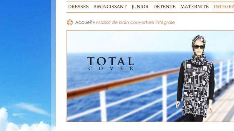 Cette entreprise vend des maillots de bain intégral pour des femmes de toutes confessions (Capture d'écran site Sea-Secret)